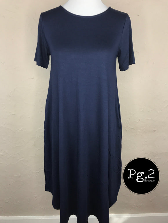 Swing it Up Dress - navy