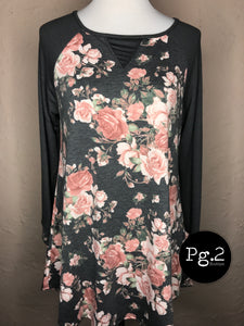 Floral French Terry Tunic