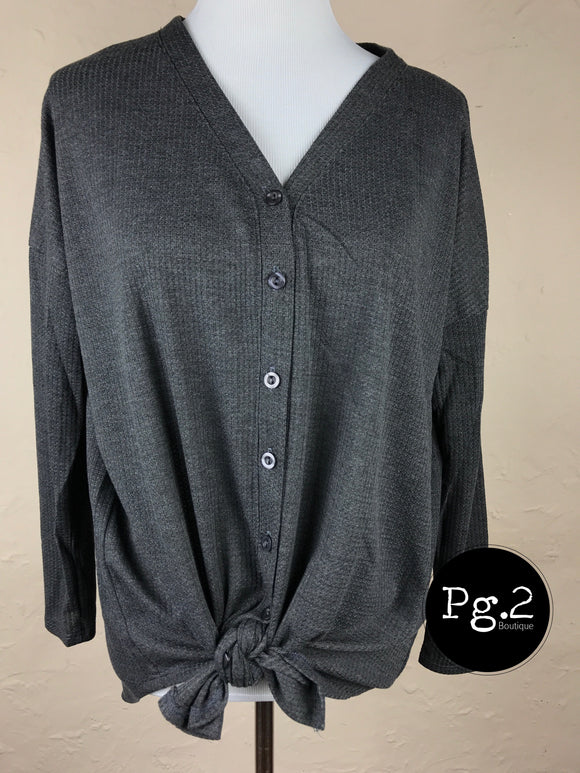 Button-up Goodness (Long-Sleeve) - charcoal
