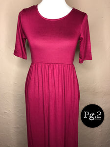 Maxi of your Life Dress - wine