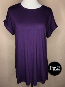 Goes with Everything Top - dark purple