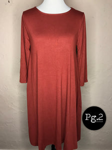 Flare Dress (with pockets) - rust