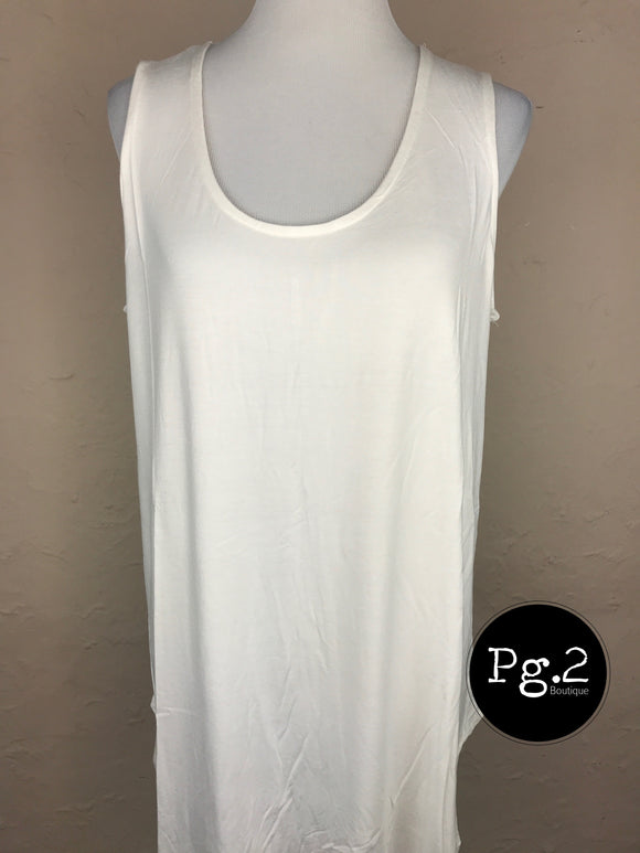It's so Basic Tank - ivory
