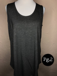 It's so Basic Tank - charcoal