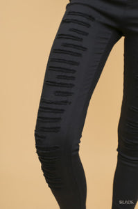 Ripped Jeggings - black