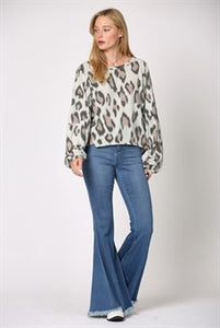 Soft Hacci Leopard Top