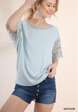 Romance Top - seafoam green