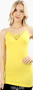 Criss-cross Layering Top - Yellow