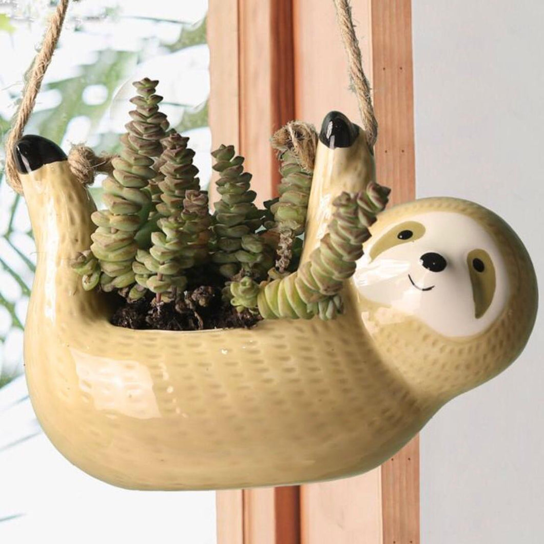 Hanging Sloth Pot - Wanderlushinterior - Planters on Sales with Free shipping