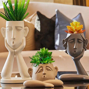 Sculpture Planter - Wanderlushinterior - Planters on Sales with Free shipping