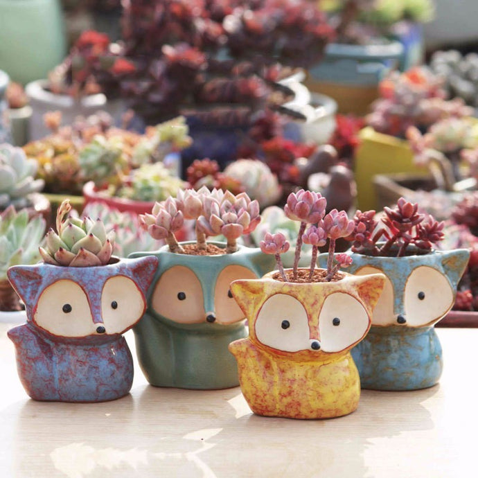 Miniature Fox Planter - Wanderlushinterior - Planters on Sales with Free shipping