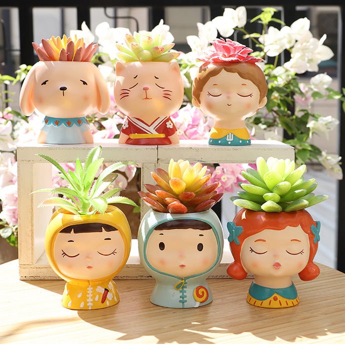Pouty Face Planter (Mini) - Wanderlushinterior - Planters on Sales with Free shipping