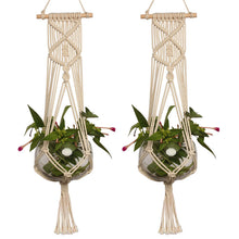 Load image into Gallery viewer, Braided Plant Holder Macrame - Wanderlushinterior - Planters on Sales with Free shipping