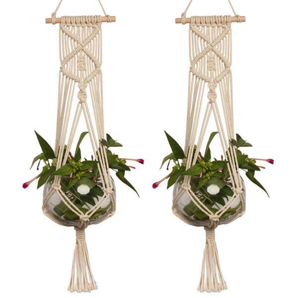 Braided Plant Holder Macrame - Wanderlushinterior - Planters on Sales with Free shipping