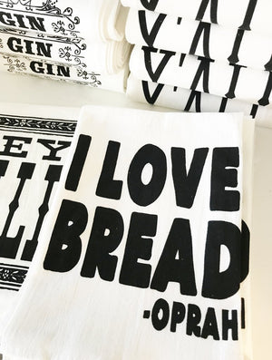I Love Bread Kitchen Towel