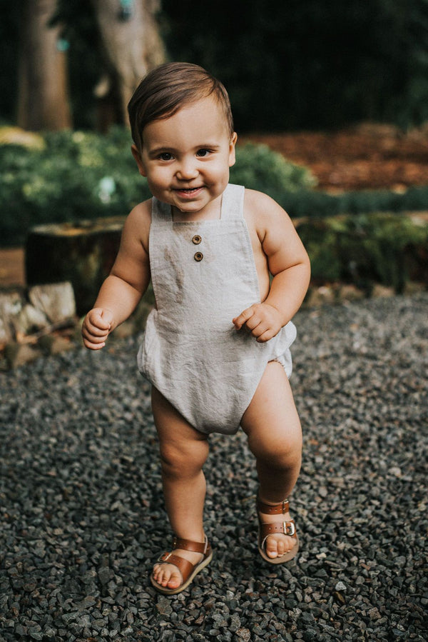 Natural Linen + Cotton Unisex Romper