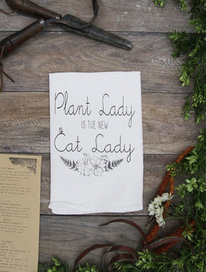 Plant Lady Cotton Kitchen Towel