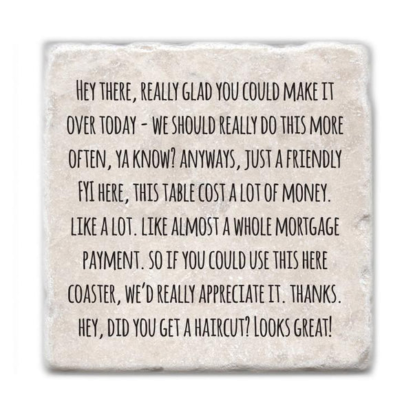 Passive Aggressive Funny Quote - SET OF 4 COASTERS