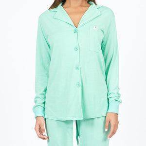 Mint Long Sleeve PJ Top