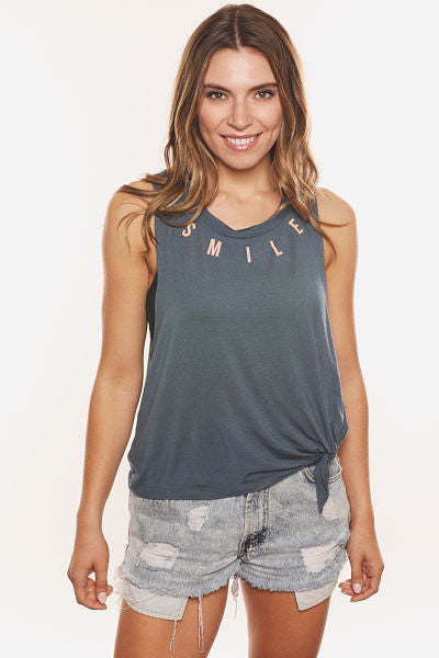 Smile Tie Front Tank