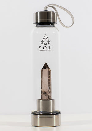 Smoky Quartz Crystal Elixir Water Bottle