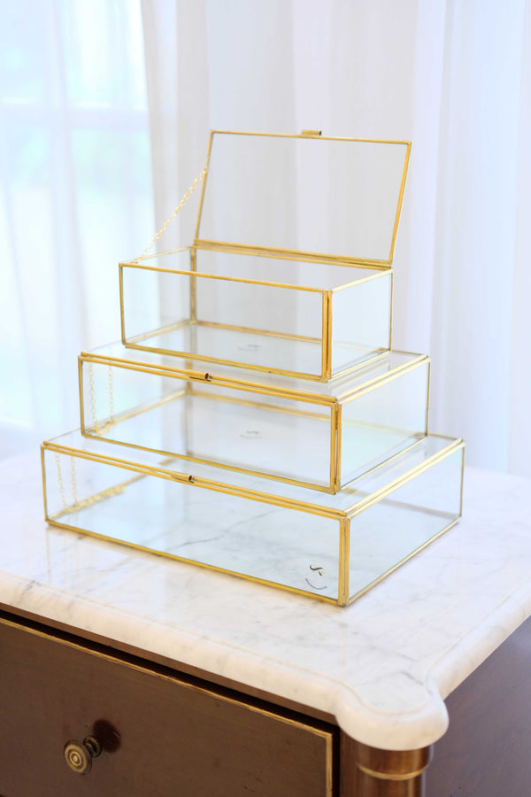 Rectangle Brass & Glass Box