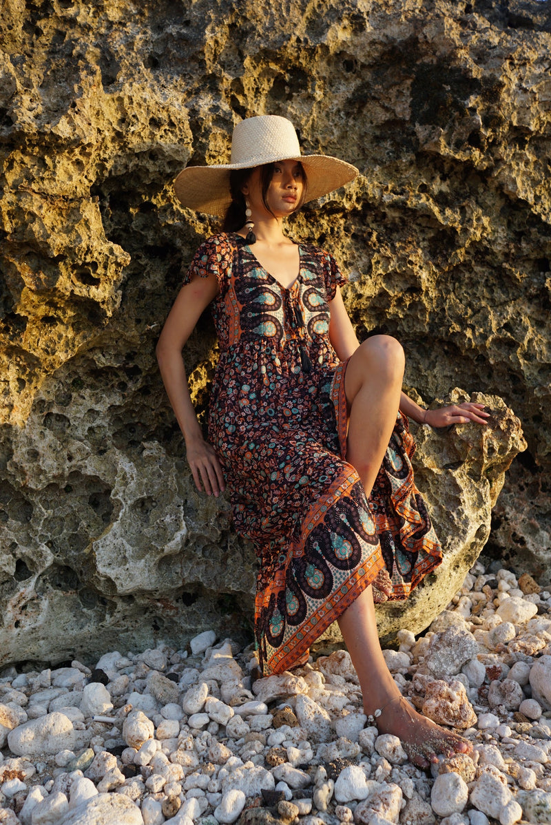 Livia Maxi Dress - Boho Brown