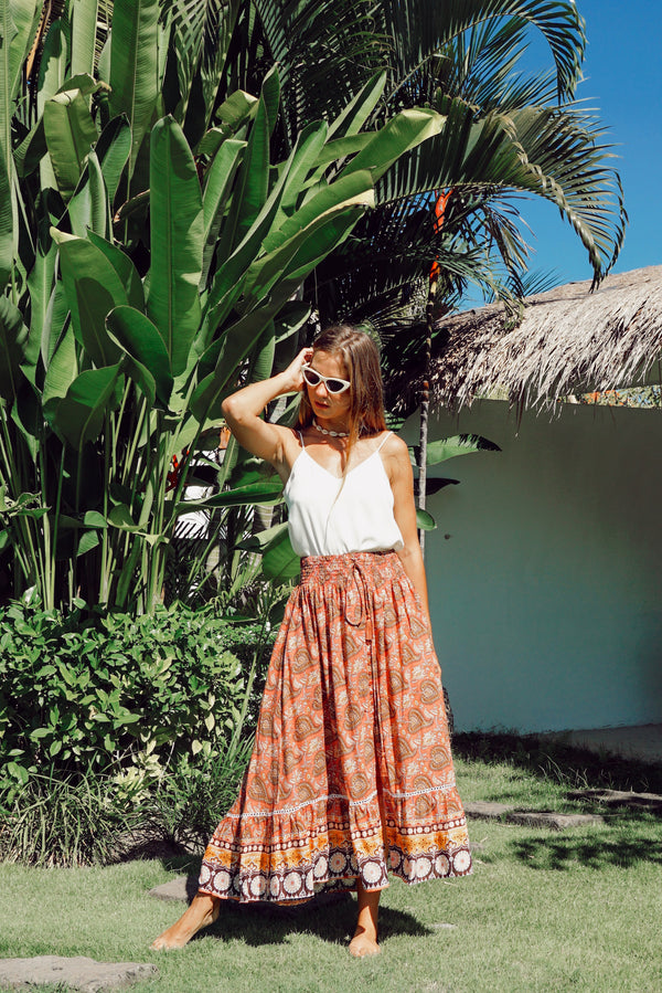 Gypsy Skirt  | Terracota