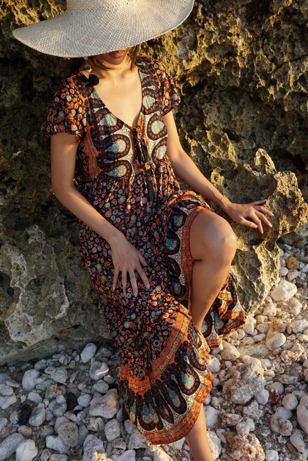 Livia Maxi Dress | Boho Brown