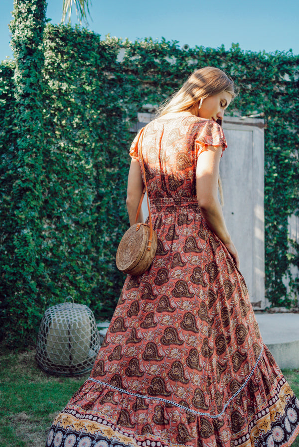Harlow Maxi Dress - Terracotta