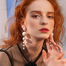 Load image into Gallery viewer, Daisy Pearl Drop Earrings - Pwrfull