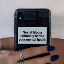 "Load image into Gallery viewer, ""Mental Health"" iPhone Case"