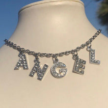 Load image into Gallery viewer, Angel Bling Letters Rhinestone Choker Necklace - Pwrfull