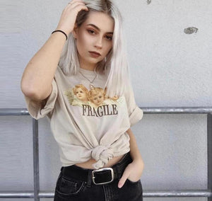"""Fragile"" Angel Tee - Pwrfull"