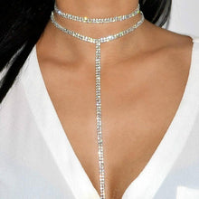 Load image into Gallery viewer, Shine Bright Rhinestone Choker Necklace - Pwrfull