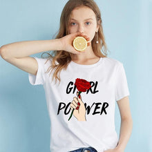 "Load image into Gallery viewer, ""Girl Power"" Tee - Pwrfull"