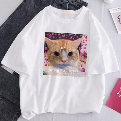 aesthetic cat meme t shirt grunge style outfit