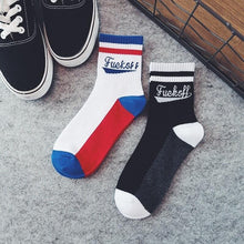 Load image into Gallery viewer, grunge aesthetic socks fuck off