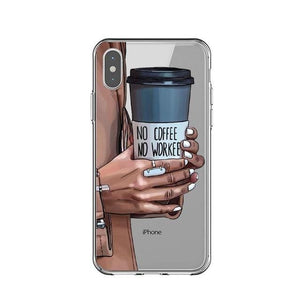 No Coffee No Workee iPhone Case - Pwrfull