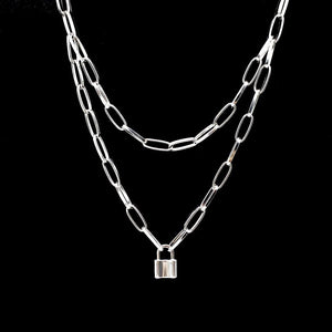 Locked Down Chain Necklace - Pwrfull