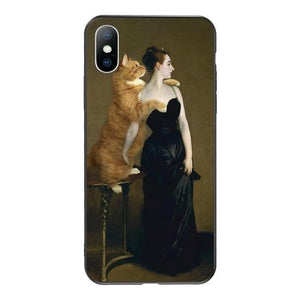 madame x painting cat art iPhone phone case aesthetic