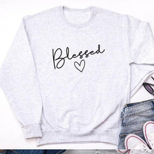 "Load image into Gallery viewer, ""Blessed"" Sweatshirt - Pwrfull"