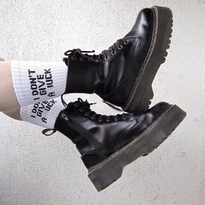 aesthetic grunge i don't give a fuck socks