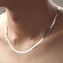 Load image into Gallery viewer, Authentic 925 Sterling Silver 4 mm Snake Chain Necklace