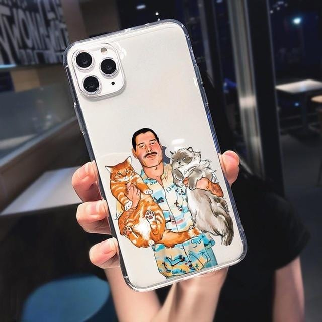Freddie Mercury & Cats iPhone Case