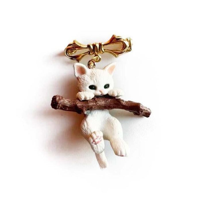 Cute Kitten Brooch