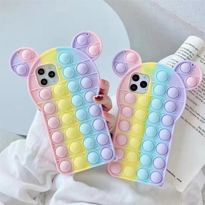Stress Relief Pop It Silicone iPhone Case