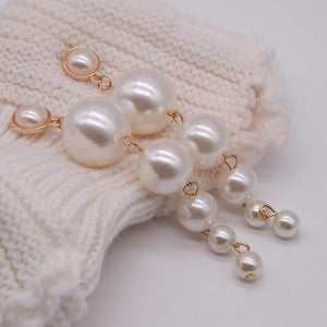 Daisy Pearl Drop Earrings - Pwrfull