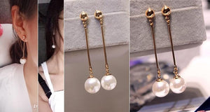 Glam Gal Pearl Dangle Earrings - Pwrfull