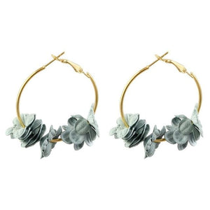 Delicate Flower Hoop Earrings - Pwrfull